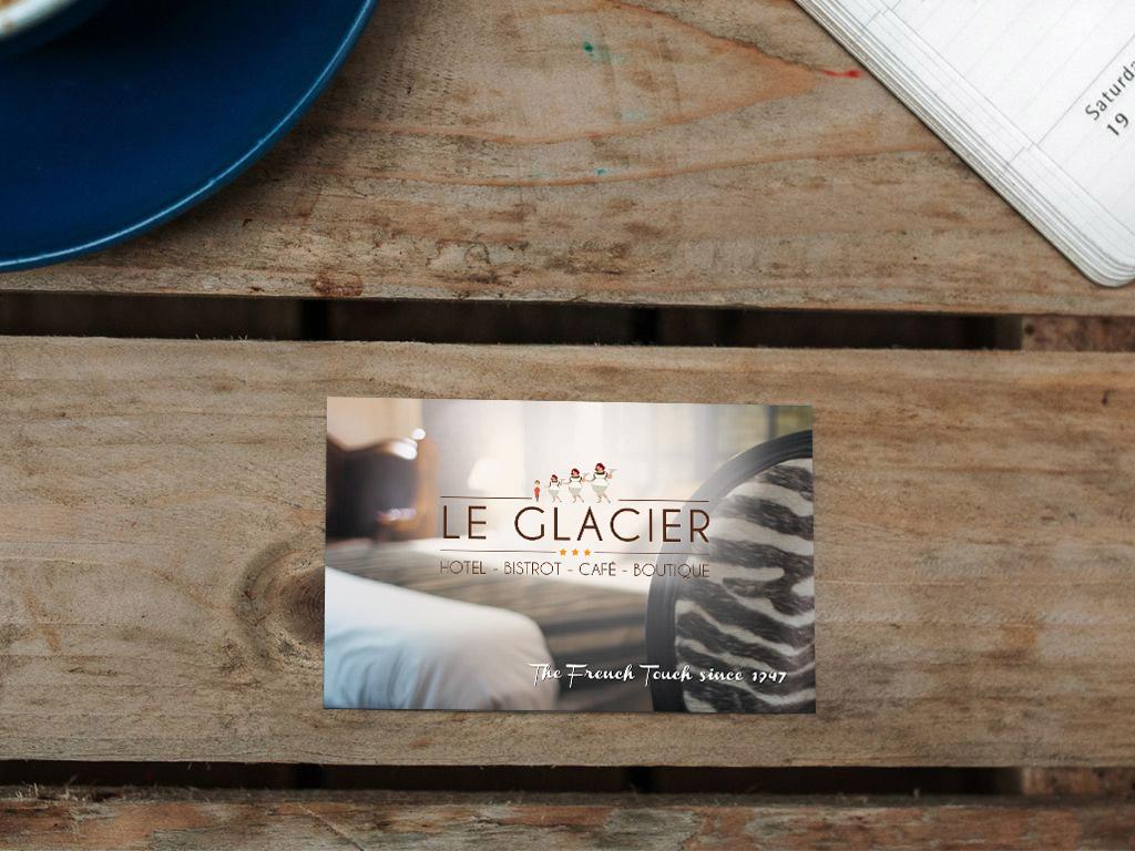 Carte de visite Hôtel Restaurant Le Glacier